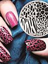 2016 г. Последние шаблон тиснения изображения пластины версия мода шаблон печати леопарда искусства ногтя