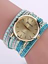 Женские Модные часы Часы-браслет Кварцевый Кожа Группа Цветы Черный Белый Синий
