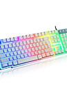 Rainbow Mechanical Touch Wired USB Waterproof Laptop Desktop Pro illuminated Computer Keyboards