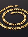 Femme Colliers chaines Forme de Cercle Plaque or Mode bijoux de fantaisie Bijoux Pour Mariage Soiree Occasion speciale Anniversaire