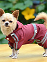 Dog Rain Coat Dog Clothes Waterproof Solid Yellow Ruby Green