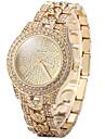 Жен. Нарядные часы Модные часы Повседневные часы Часы со стразами Кварцевый Повседневные часы Имитация Алмазный Позолоченное розовым