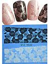 1 Adesivos para Manicure Artistica Pontas de Unha Completa Flor Desenho Adoravel Casamento maquiagem Cosmeticos Designs para Manicure