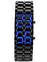 Мужской Модные часы Наручные часы Уникальный творческий часы LED Календарь Цифровой силиконовый Группа КольцеобразныйЧерный Серебристый