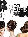 여성 헤어 액세서리 8 종류의 마법 braiders 버드 헤드 볼 헤드 디스크 도넛 접시 머리 미용 도구