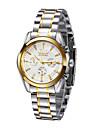 WINNER 남성 손목 시계 기계식 시계 달력 방수 오토메틱 셀프-윈딩 스테인레스 스틸 밴드 럭셔리 실버