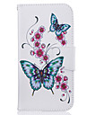 for Motorola Moto G4 Plus G4 Butterfly Pattern Leather PU Leather Material Leather Phone Case