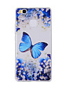 For Huawei Y635 4C 4X 5C 5X P8 P9 P8Lite P9Lite Honor8 Honor7 Honor6 Case Cover Blue Butterfly Painted Pattern TPU Material Phone Case