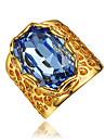 Кольцо Цирконий Позолота 18K золото Золотой Бижутерия Свадьба Для вечеринок Повседневные 1шт