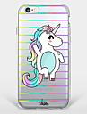 Для Ультратонкий / Прозрачный / С узором Кейс для Задняя крышка Кейс для Животный принт Мягкий TPU AppleiPhone 7 Plus / iPhone 7 / iPhone