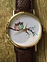 Женские Модные часы Наручные часы / Кварцевый PU Группа Винтаж Cool Повседневная Сова Черный