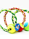 Pet Toys Chew Toy Rope Tennis Ball Textile