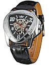 Муж. Спортивные часы Нарядные часы Модные часы Наручные часы Механические часы С автоподзаводом Календарь Натуральная кожа Группа С