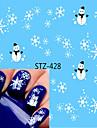 1pcs Adesivos para Manicure Artistica Decalques de transferencia de agua maquiagem Cosmeticos Designs para Manicure