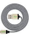 MFI 3m (10피트) 애플 아이폰 7 기가 6 플러스 자체 5S 5C 5 플러스 / 아이 패드 에어 / 아이 패드 미니에 대한 꼰 번개 케이블의 USB 동기화 및 충전