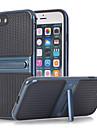 Para Com Suporte Capinha Capa Traseira Capinha Cor Unica Rigida TPU para AppleiPhone 7 Plus iPhone 7 iPhone 6s Plus iPhone 6 Plus iPhone
