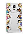 Para Transparente Estampada Capinha Capa Traseira Capinha Desenho Macia TPU para Samsung Note 5 Note 4 Note 3 Note 2