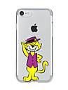 Pour Transparente Motif Coque Coque Arriere Coque Chat Flexible PUT pour AppleiPhone 7 Plus iPhone 7 iPhone 6s Plus iPhone 6 Plus iPhone