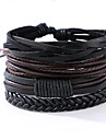 Men\'s Leather Bracelet Vintage Punk Costume Jewelry Leather Round Jewelry For Anniversary Gift Sports Christmas Gifts Valentine