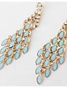 Women\'s Drop Earrings Imitation Sapphire Imitation Diamond Dangling Style Fashion Euramerican Costume Jewelry Zircon Chrome Jewelry For