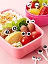 10Pcs/ Set  Cute Plastic Fruit Toothpick Lovely Eye Cartoon Forks Bento Decorative Tableware Facas Food Picks Fish Fork Dessert