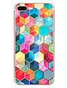 Pour iPhone X iPhone 8 Etuis coque Motif Coque Arriere Coque Formes Geometriques Flexible PUT pour Apple iPhone X iPhone 8 Plus iPhone 8