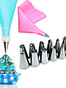 14 Pcs/Set Random Color Silicone Icing Piping Cream Pastry Bag 12PCS Stainless Steel Nozzle Pastry Tips  1 Converter DIY Cake Decorating Tools