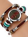 Genova Platinum Top Women Premium Genuine Leather Watch Triple Bracelet Watch Butterfly Charm Wrist watch Fashion Vintage Watch