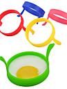 1Pcs Silicone Fried Frier Oven Poacher Pancake Egg Poach Ring Mould Kitchen(Random Color)