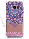 Etui pour samsung galaxy s8 plus s8 mandala pattern acrylique backplane et tpu bord matiere col strang s7 bord s7 s6 bord s6 s5