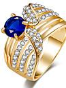 Жен. Массивные кольца Кольцо Кристалл Базовый дизайн Уникальный дизайн Стразы Pоскошные ювелирные изделия Массивные украшения Классика