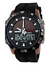 남성용 스포츠 시계 드레스 시계 스마트 시계 패션 시계 손목 시계 독특한 창조적 인 시계 중국어 디지털 태양 에너지 달력 크로노그래프 방수 태양 에너지 야광 실리콘 밴드 참 멋진 우아한 멀티컬러