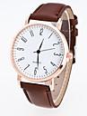 Men\'s Women\'s Sport Watch Dress Watch Fashion Watch Wrist watch Chinese Quartz PU Band Casual Black Brown