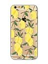 Etui pour iphone 7 plus 7 recouvrement transparent modele couverture arriere carreau de fruits citron doux tpu pour Apple iphone 6s plus 6