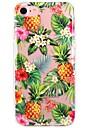 Pour iPhone 7 iPhone 7 Plus Etuis coque Ultrafine Transparente Motif Coque Arriere Coque Fruit Fleur Flexible PUT pour Apple iPhone 7