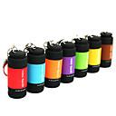preiswerte LED Schlüsselanhänger-Schlüsselanhänger Taschenlampen LED 25lm 1 Beleuchtungsmodus Mini / Wasserfest Für den täglichen Einsatz Rot / Grün / Blau