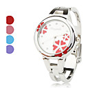 Buy Women's Quartz Analog Flower Pattern Dial Silver Alloy Band Bracelet Watch (Assorted Colors) Cool Watches Unique Fashion Strap