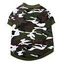 hesapli Köpek Giyim ve Aksesuarları-Kedi / Köpek Tişört Köpek Giyimi kamuflaj Kamuflaj Rengi Pamuk Kostüm Evcil hayvanlar için Yaz Erkek / Kadın's Moda