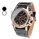 hesapli Erkek Saatleri-Erkek Quartz Bilek Saati Japonca Bant İhtişam Siyah / Beyaz
