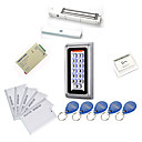 billige Herreskjorter-metall Vanntett adgangskontroller Kits (magnetisk 280kg lås, 10 EM-ID-kort, strømforsyning)