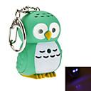 preiswerte Schlüsselanhänger-Eule Schlüsselanhänger Silikon Gummi, Harz LED, Tier, Beleuchtet Für Freizeitskleidung