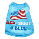 hesapli Fırın Araçları ve Gereçleri-Köpek Tişört Köpek Giyimi Ulusal Bayrak Amerikan / ABD Pamuk Kostüm Evcil hayvanlar için Erkek Kadın's