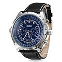 levne Pánské-Pánské Hodinky k šatům mechanické hodinky Letecké hodinky Automatické natahování Kůže Černá Kalendář Analogové Luxus - Bílá Černá Modrá