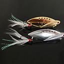 hesapli Makyaj ve Tırnak Bakımı-Balık-Şekilli Metal Lure ile yeni tasarlanan Balıkçılık 3-Kancalar (10g, 14g, 22g, Renk ramdon)