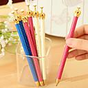 זול כלי ציור וכתיבה-עפרון עֵט עפרונות מכאניים עֵט, פלסטי שחור צבעי דיו For ציוד בית ספר ציוד משרדי חבילה של