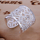 Χαμηλού Κόστους Δαχτυλίδια-Γυναικεία Δακτύλιος Δήλωσης / Δέσε Ring - Ασήμι Στερλίνας, Στρας Καρδιά, Love Πολυτέλεια, Μοναδικό, Κομψό Ρυθμιζόμενο Χρυσό / Ασημί Για Γάμου / Πάρτι / Επέτειος