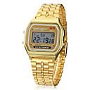 cheap Rings-Men's Wrist Watch Digital Watch Digital Alarm Calendar / date / day Chronograph Alloy Band Digital Charm Gold - Golden One Year Battery Life / LCD / SODA AG4