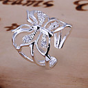 cheap Rings-Women's Engagement Ring - Crystal Butterfly, Animal Luxury, Open Adjustable Silver For Wedding Daily