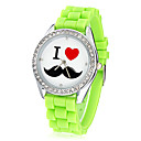 preiswerte Damenuhren-Damen Armbanduhren für den Alltag Quartz Imitation Diamant Band Eiffelturm Schwarz / Weiß / Blau - Grün Blau Rosa