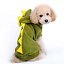 hesapli Köpek Giyim ve Aksesuarları-Köpek Kostümler Kapüşonlu Giyecekler Köpek Giyimi Karton Kırmzı Yeşil Pamuk Kostüm Evcil hayvanlar için Erkek Kadın's Sevimli Cosplay